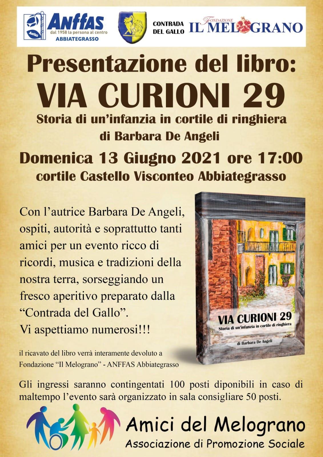Via Curioni 29: il nuovo libro di Barbara De Angeli e la presentazione ad Abbiategrasso