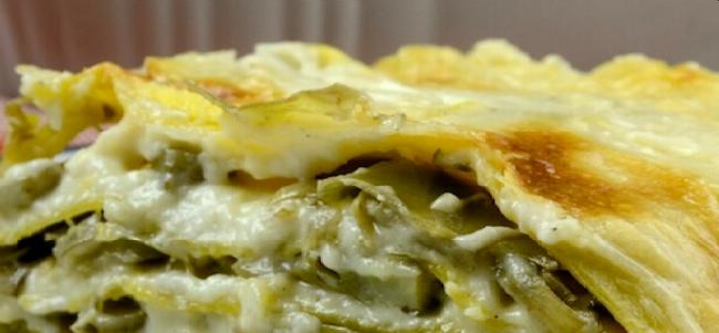 Le ricette colorate di ParCo Naviglio: lasagne con i carciofi